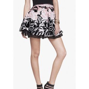 Express  Pleated skirt with floral pattern